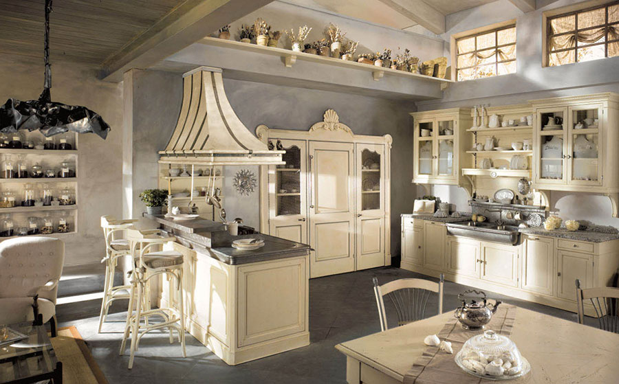 Cucina country chic in stile romantico n.10