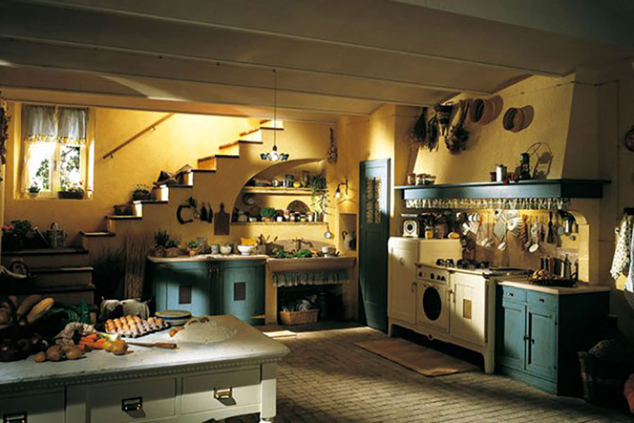 Cucina country chic in stile romantico n.16