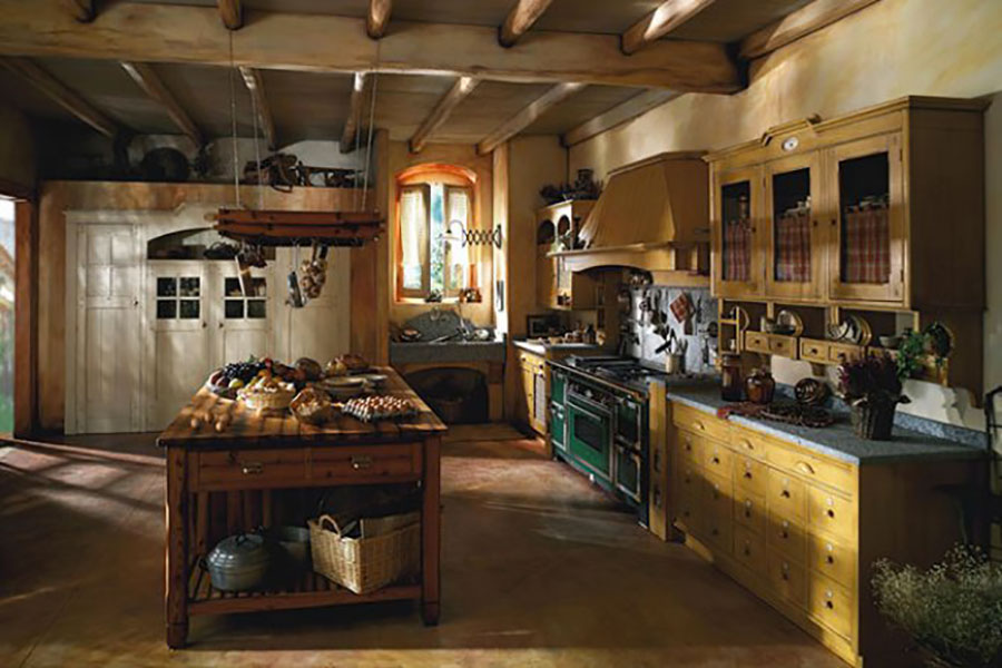 Cucina country chic in stile romantico n.18