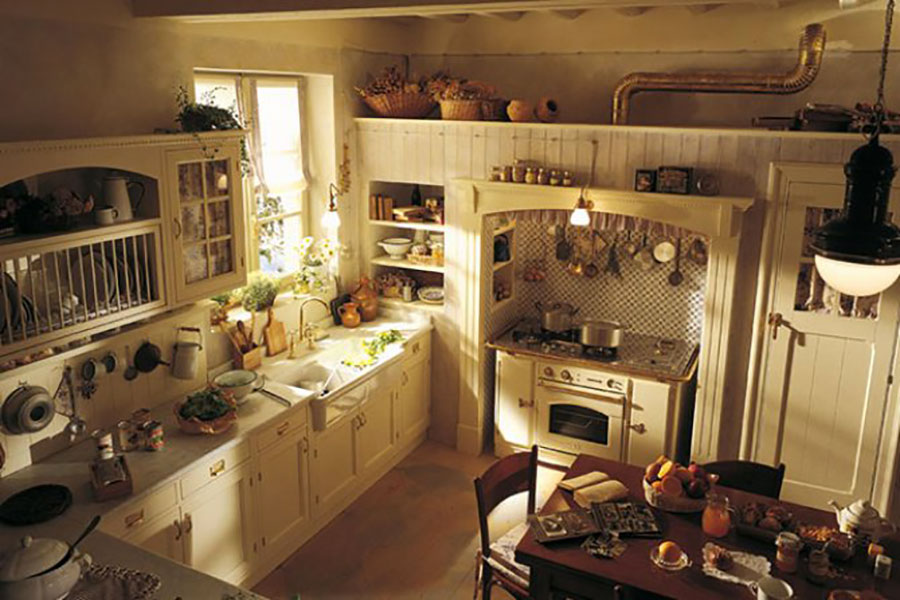 Cucina country chic in stile romantico n.19