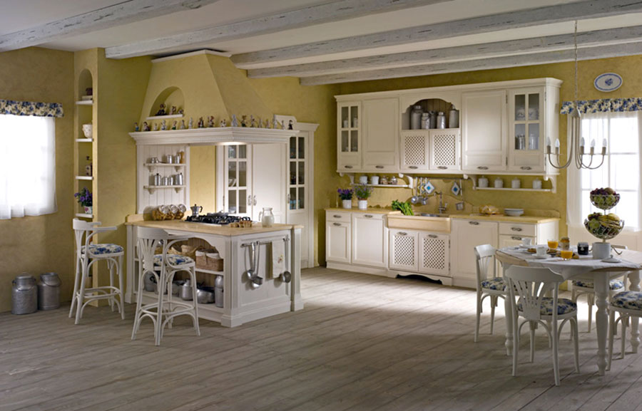Cucina country chic in stile romantico n.20