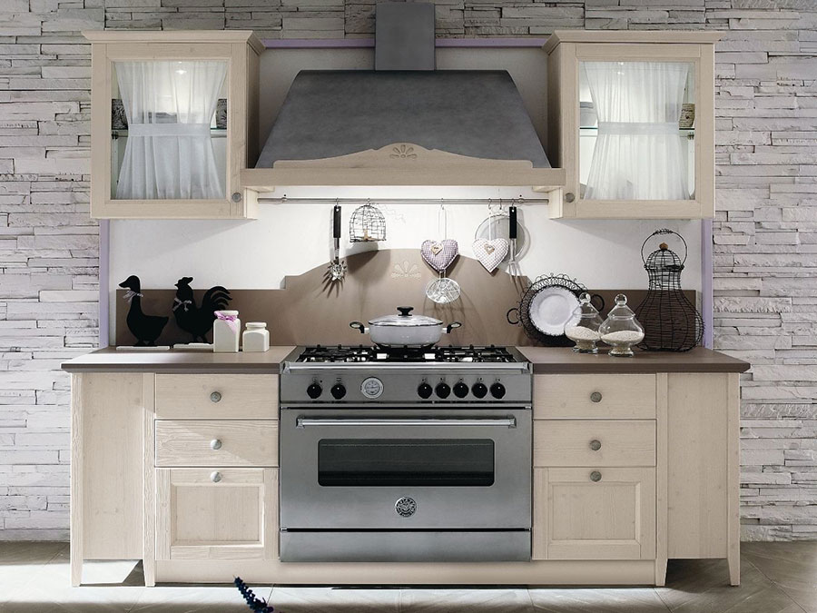 Cucina country chic in stile romantico n.21