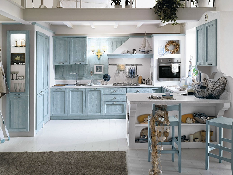 Cucina country chic in stile romantico n.22