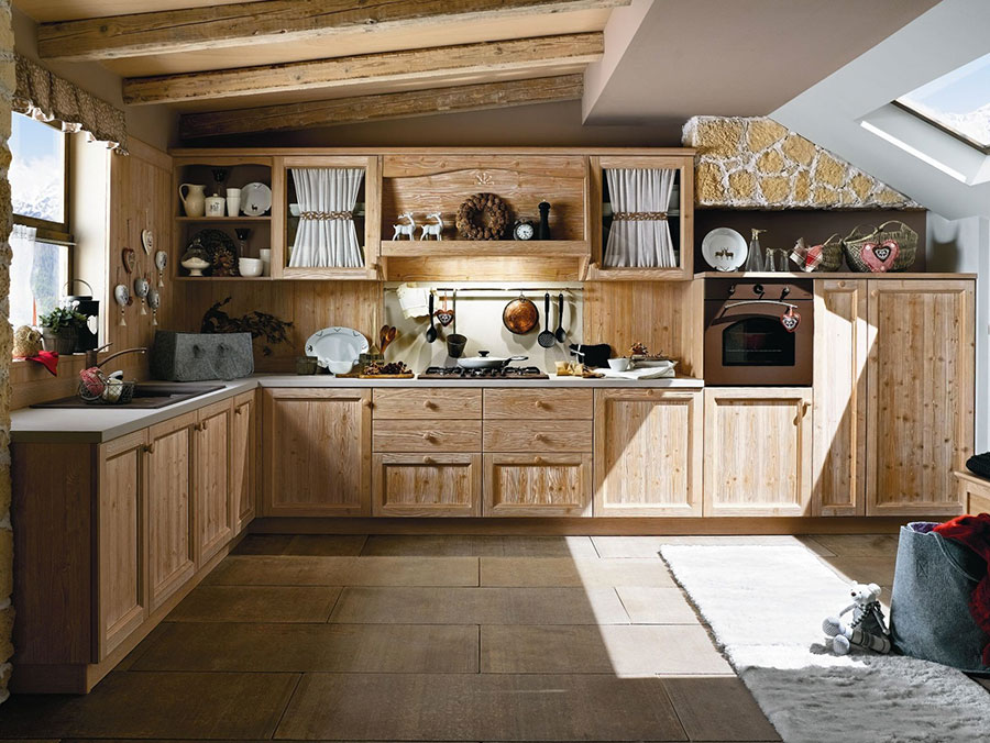 Cucina country chic in stile romantico n.23