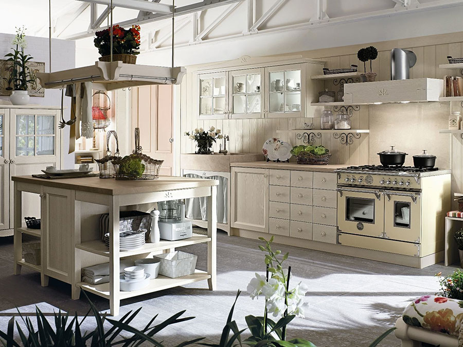 Cucina country chic in stile romantico n.24