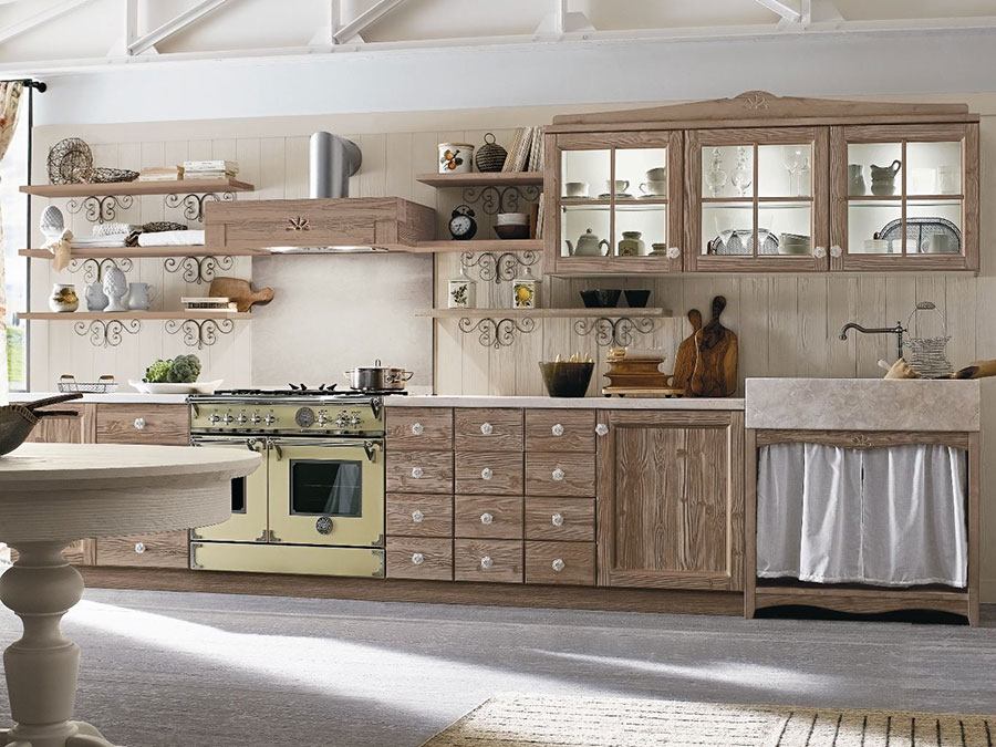 Cucina country chic in stile romantico n.25