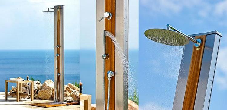 Modello di doccia solare da giardino n.07