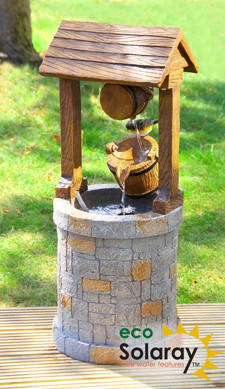 Modello di fontana solare da giardino n.06