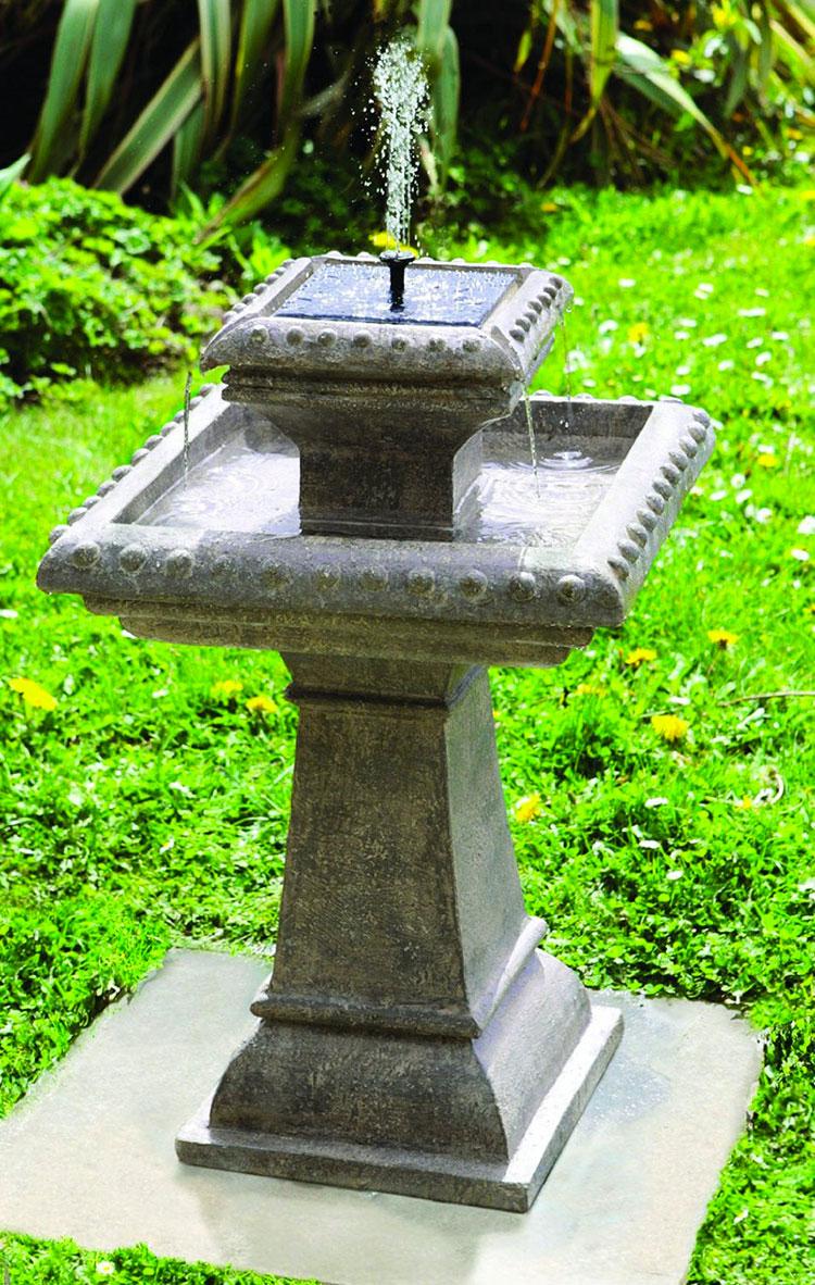 15 stupende fontane solari da giardino da acquistare - Oggetti per giardino ...