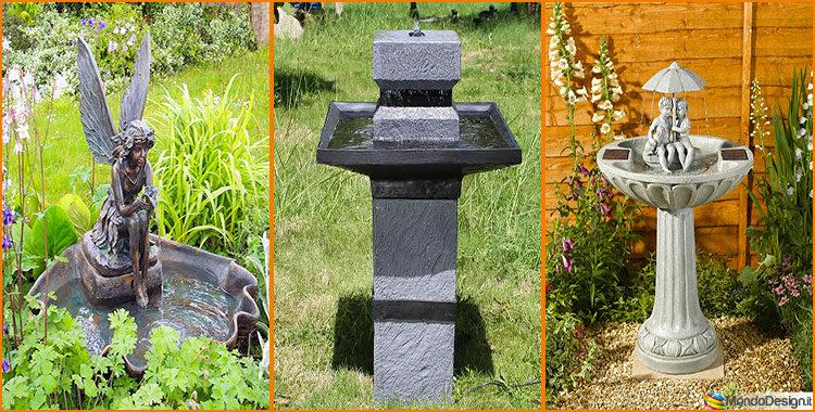 15 stupende fontane solari da giardino da acquistare online ...