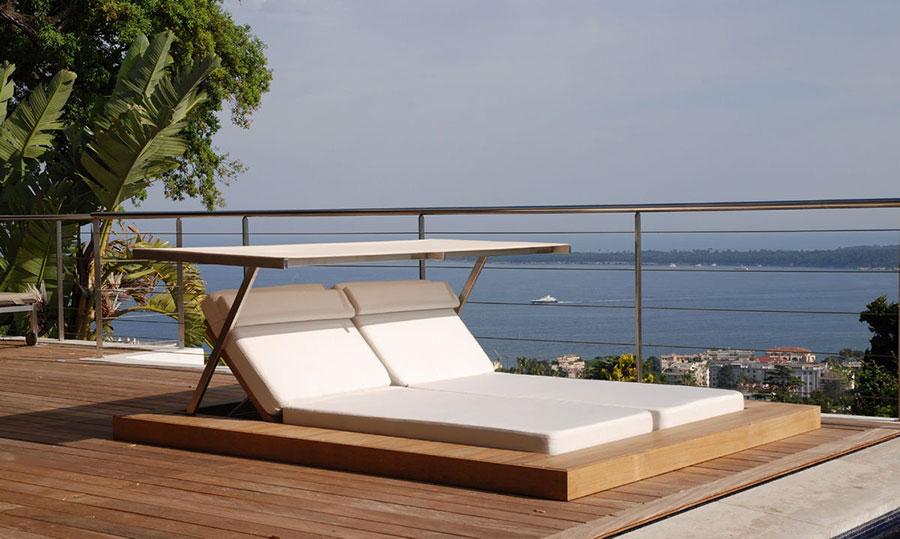 Modello di lettino da giardino dal design particolare n.14