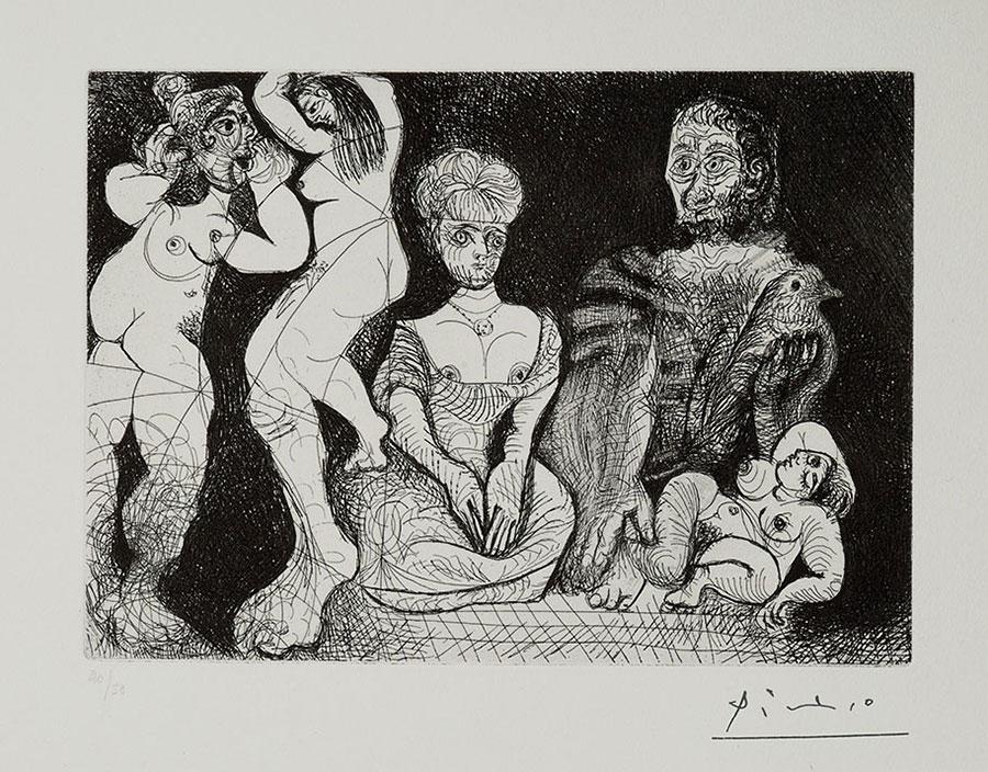 Pablo Picasso acquaforte e raschietto