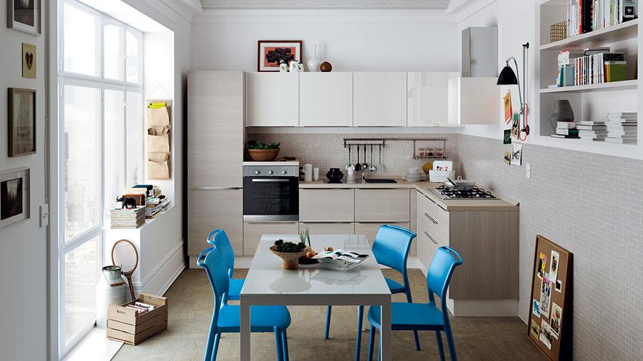 Modello di cucina per monolocale di Scavolini n.1
