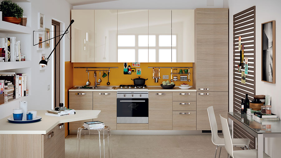 Modello di cucina per monolocale di Scavolini n.5