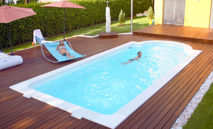 15 modelli di piscine interrate in vetroresina monoblocco - Piscina interrata prezzi ...