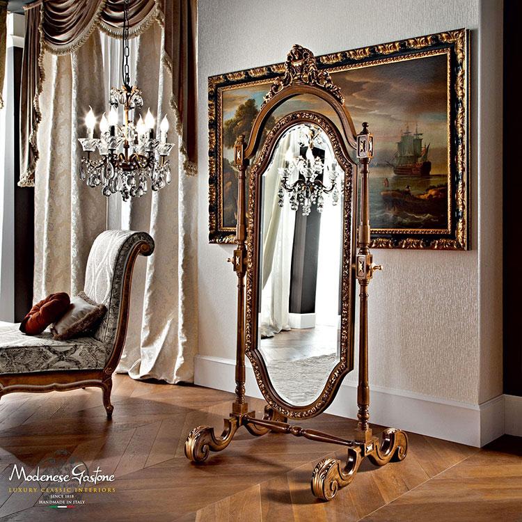 Specchio da terra in stile classico n.04