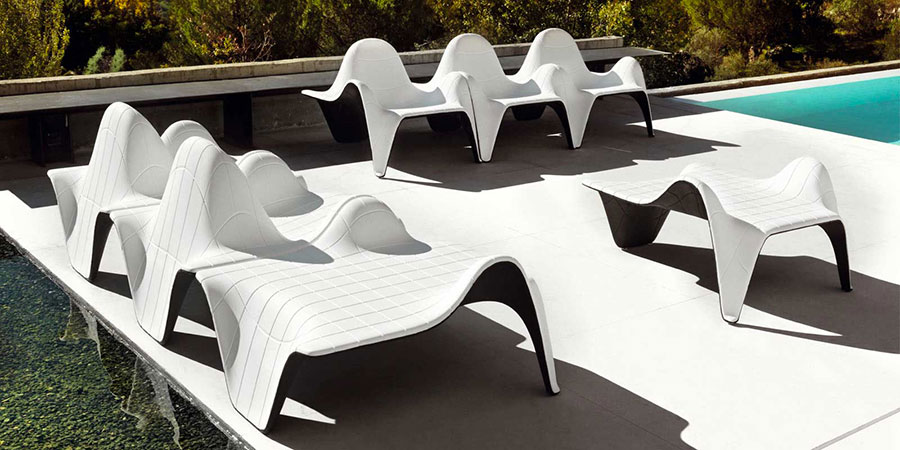 Tavolini e tavoli da giardino dal design particolare for Arredamento esterni design