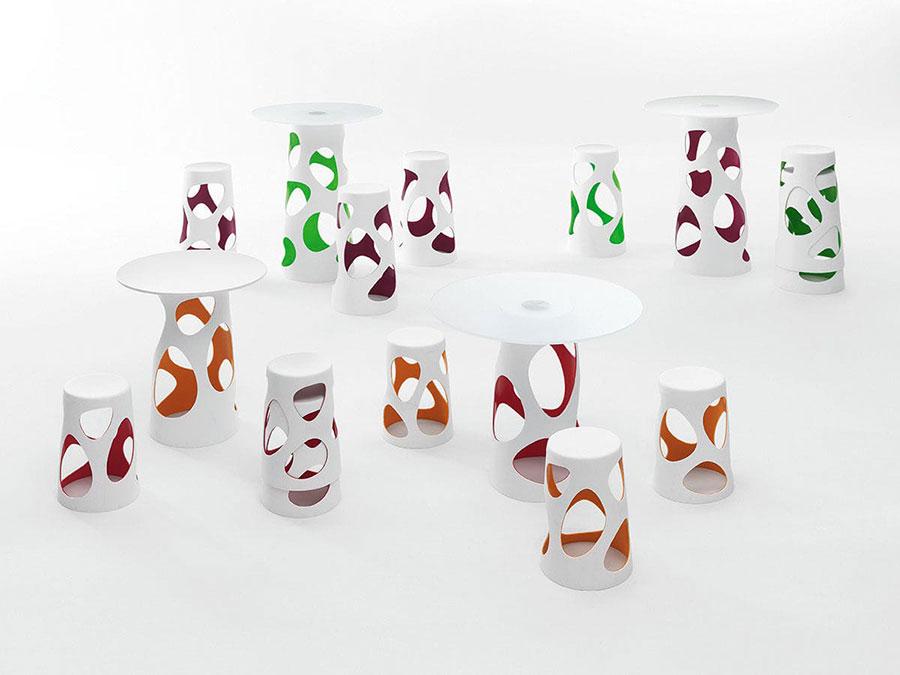 Tavolo da esterni dal design particolare n.08