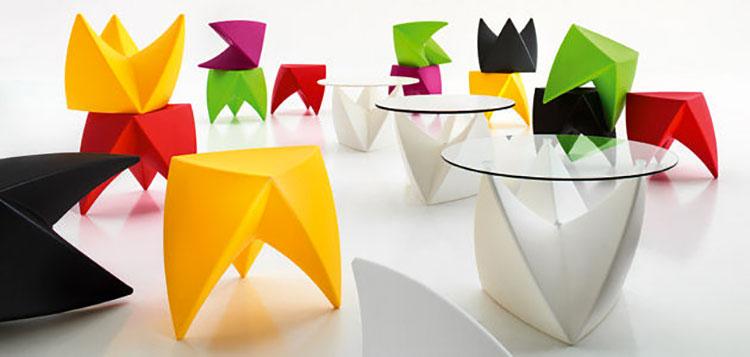 Tavolo da esterni dal design particolare n.09