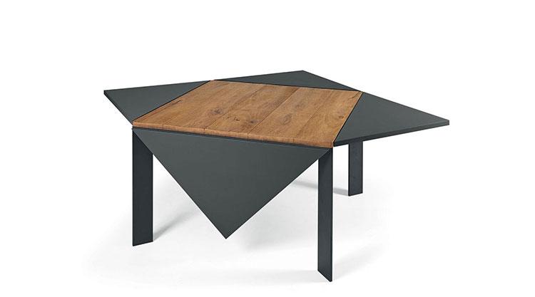 Modello di tavolo quadrato allungabile n.05
