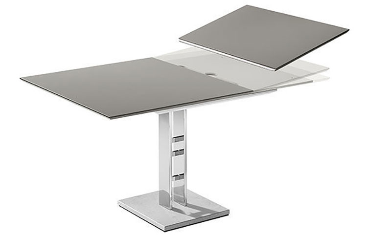 Modello di tavolo quadrato allungabile n.12