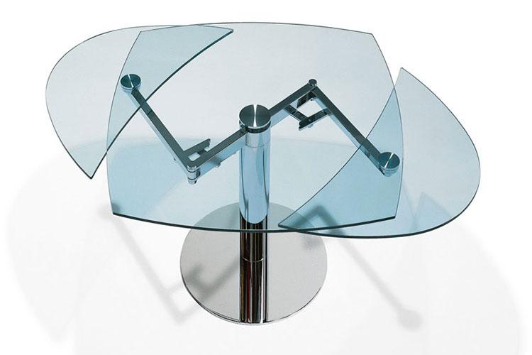 Modello di tavolo quadrato allungabile n.14