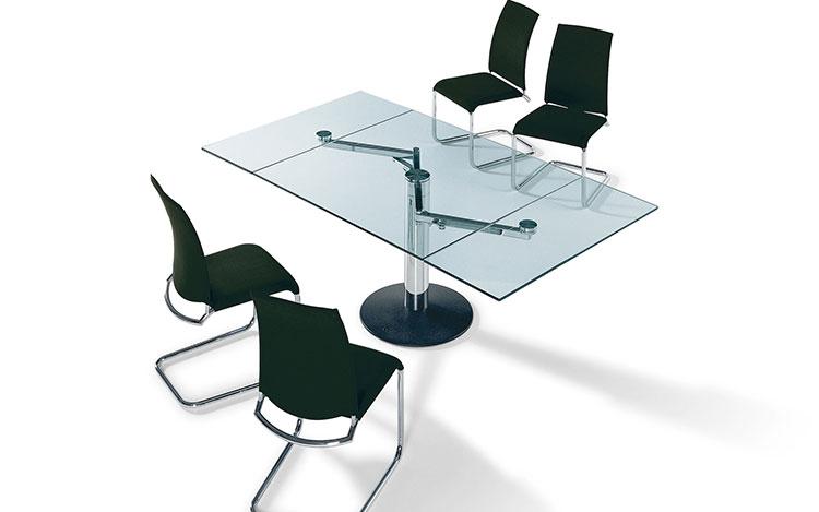 Modello di tavolo quadrato allungabile n.15