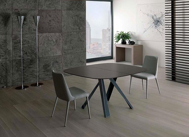 Tavoli quadrati allungabili 20 modelli dal design moderno for Tavolo apribile