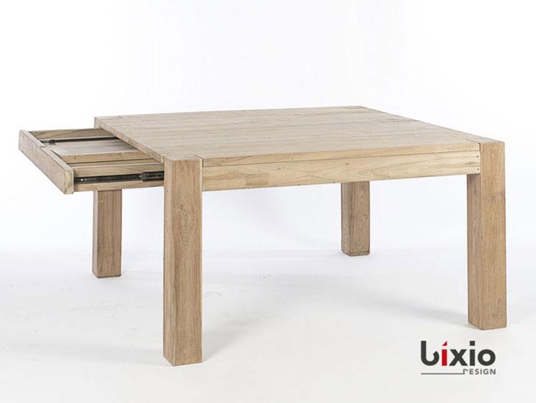 Modello di tavolo quadrato allungabile n.19