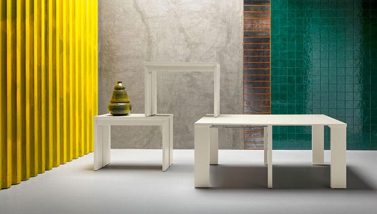 Modello di tavolo quadrato allungabile n.20