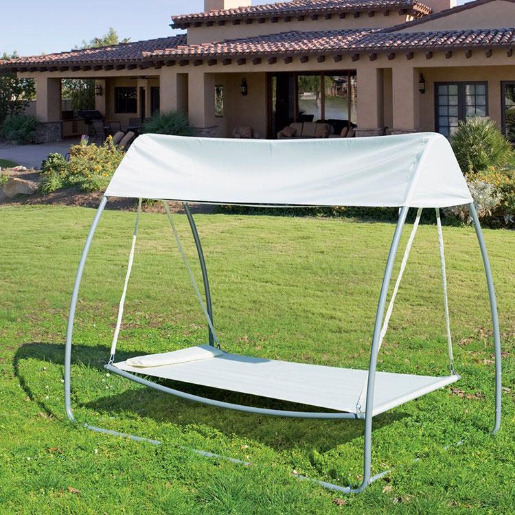 Amaca da giardino autoportante con parasole n.02