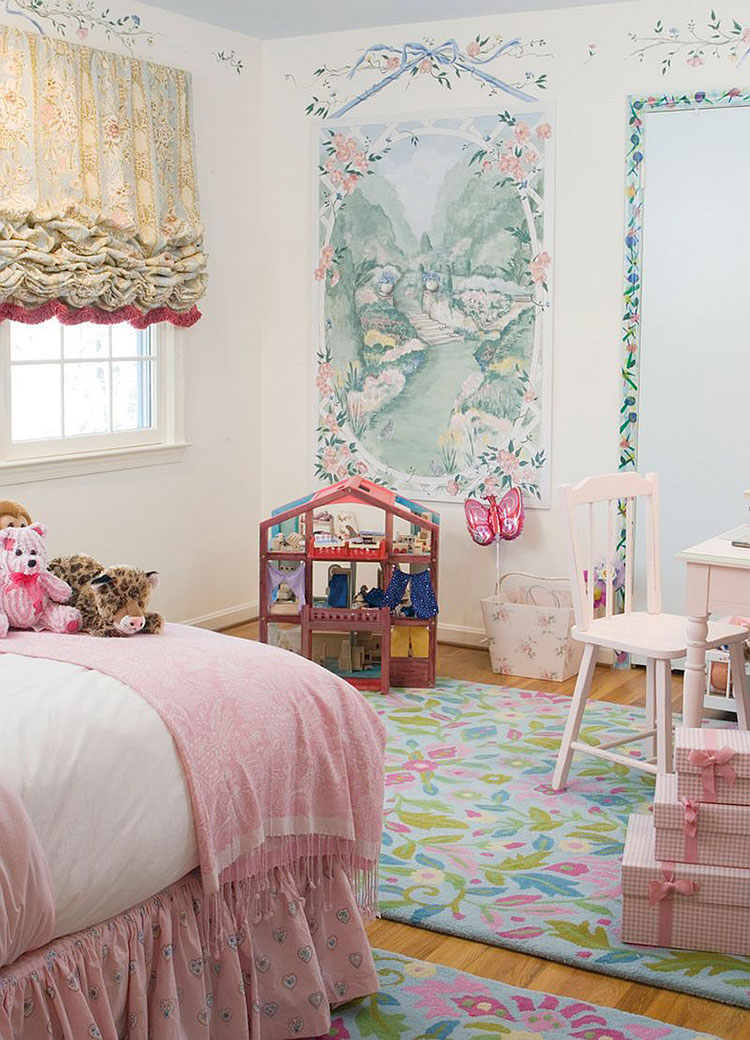 Cameretta per Bambini in Stile Shabby Chic n.06