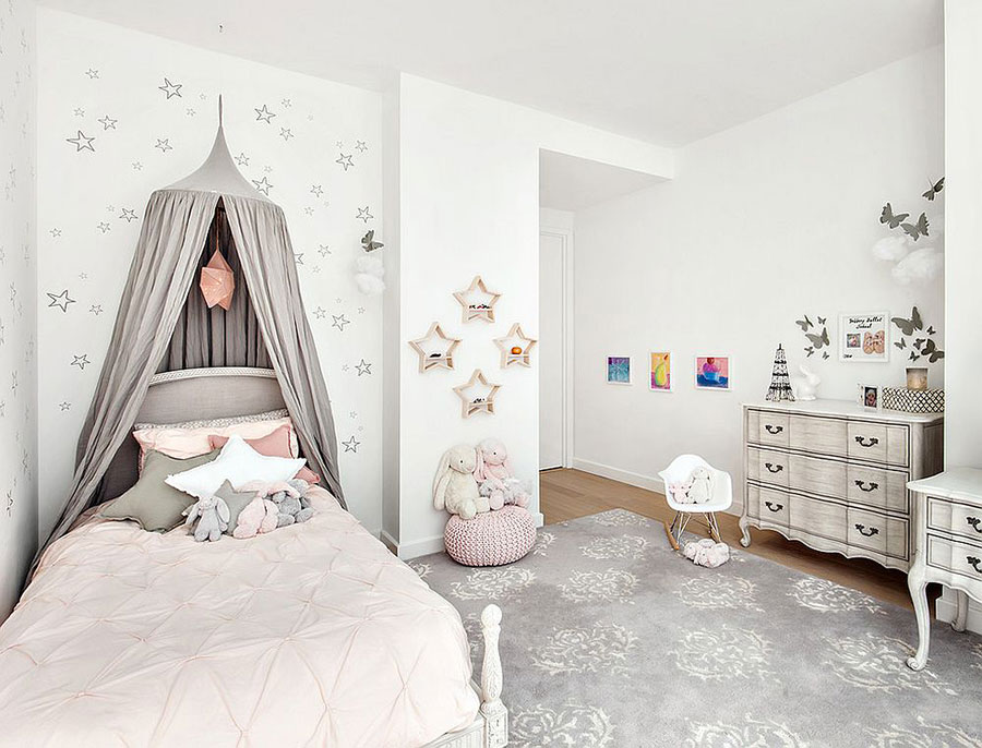 Cameretta per Bambini in Stile Shabby Chic n.08