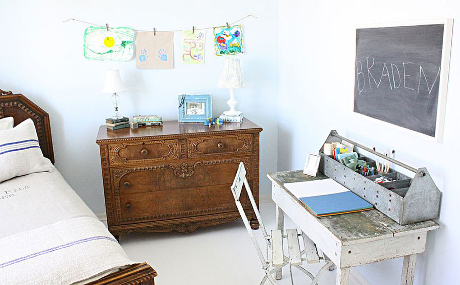 Cameretta per Bambini in Stile Shabby Chic n.17