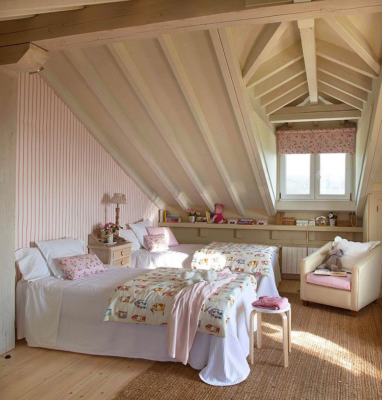 Cameretta per Bambini in Stile Shabby Chic n.28