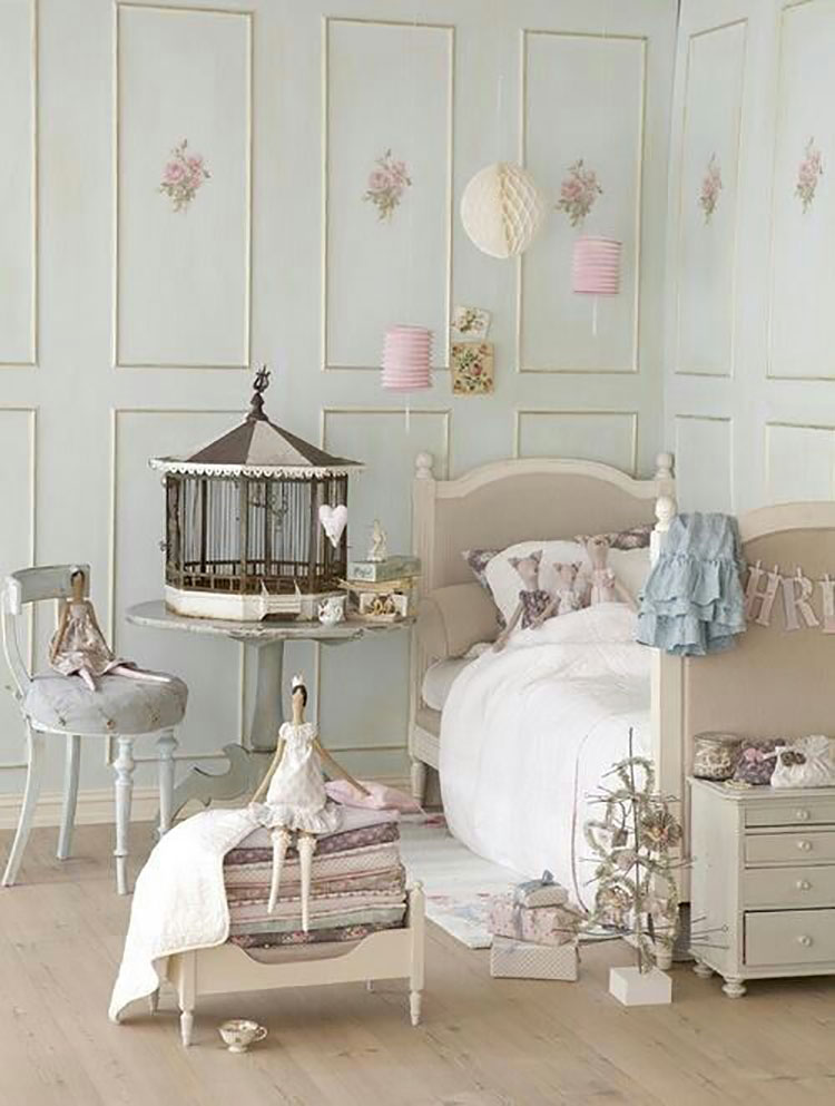Cameretta per Bambini in Stile Shabby Chic n.29