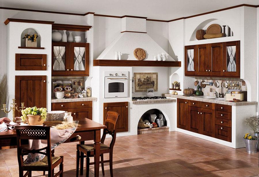 20 cucine in muratura in stile country for Cucine in muratura moderne fai da te