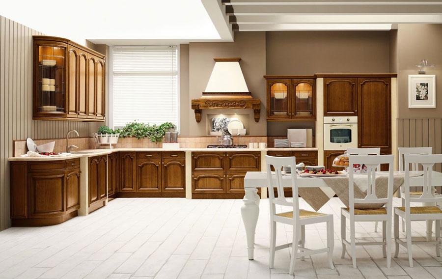 Modello di cucina in muratura in stile country n.06