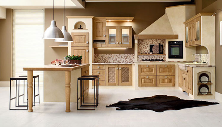 Modello di cucina in muratura in stile country n.18