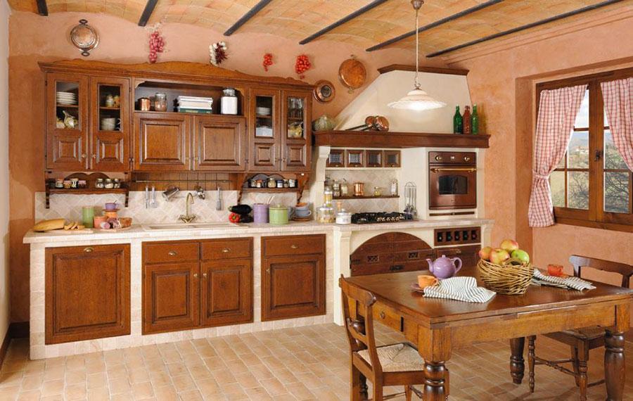 Modello di cucina in muratura rustica Gil Country Arredamenti n.02
