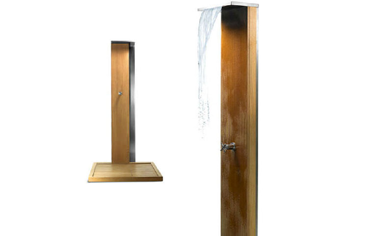 Modello di doccia da giardino dal design particolare n.17