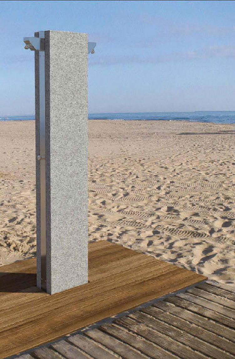 Modello di doccia da giardino dal design particolare n.19