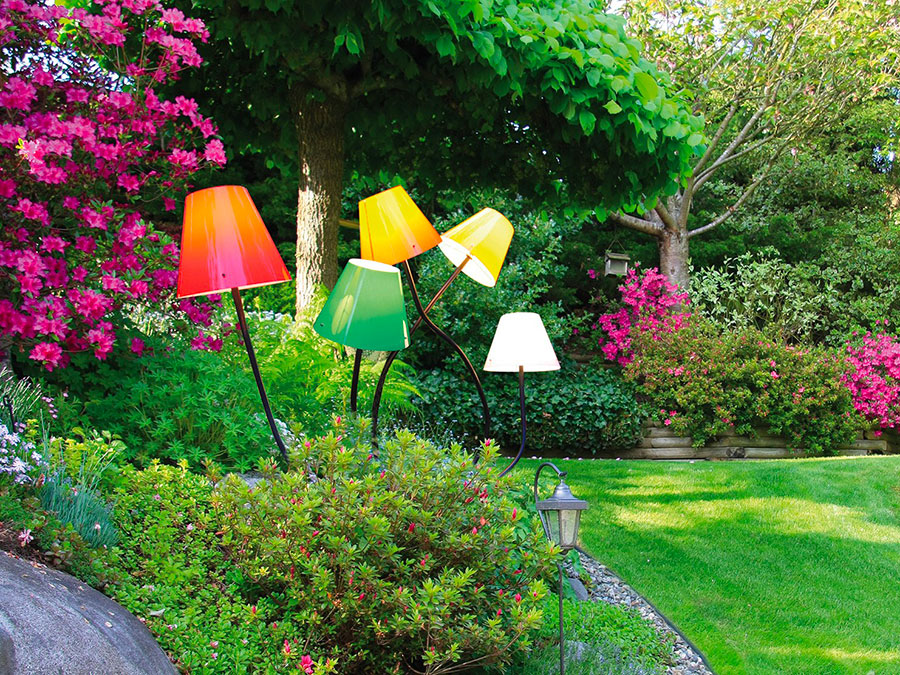 Modello di lampada da terra per esterni n.27