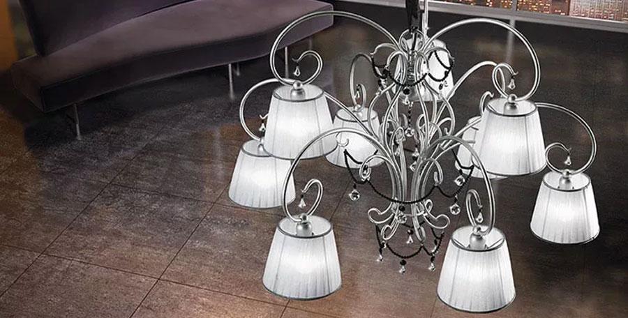 Lampadari in ferro battuto