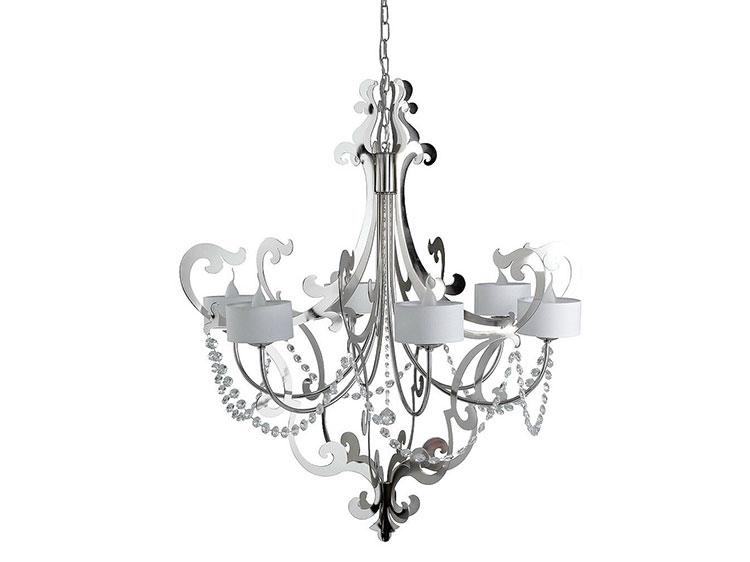 Modello di lampadario in ferro battuto da soffitto n.02