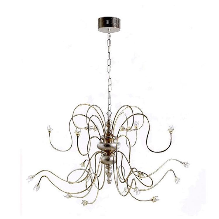 Modello di lampadario in ferro battuto da soffitto n.03