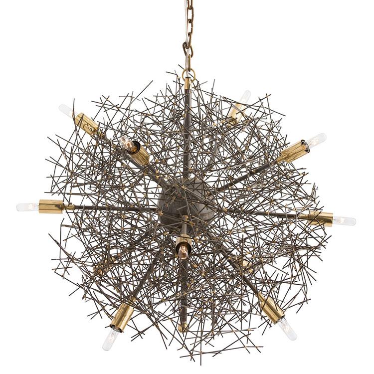 Modello di lampadario in ferro battuto da soffitto n.06