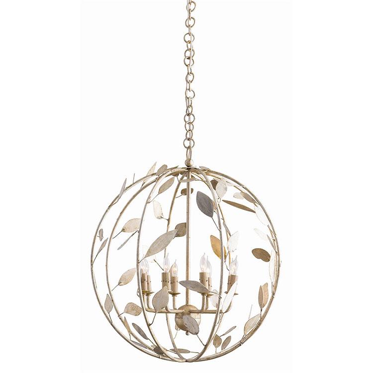 Modello di lampadario in ferro battuto da soffitto n.07