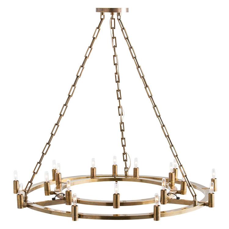 Modello di lampadario in ferro battuto da soffitto n.09