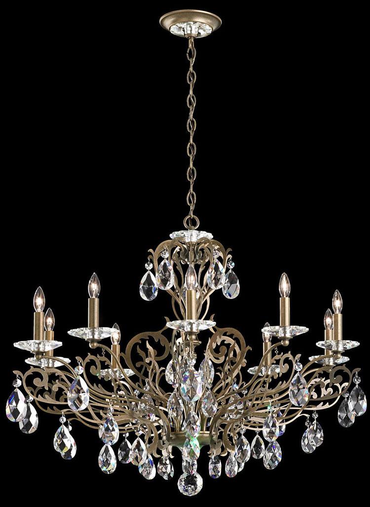 Modello di lampadario in ferro battuto da soffitto n.10